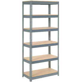 "Extra Heavy Duty Shelving 36""W x 12""D x 72""H With 6 Shelves, Wood Deck"