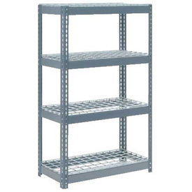 """Extra Heavy Duty Shelving 36""""W x 18""""D x 72""""H With 4 Shelves, Wire Deck"""