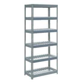 "Extra Heavy Duty Shelving 36""W x 12""D x 72""H With 6 Shelves, Wire Deck"