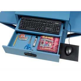Sliding Mouse Tray for Mobile Computer Cabinets, Black