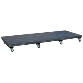 "Mobile Plastic Dunnage Rack 96""W x 36""D (2000 Lbs Cap)"