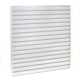 "Steel Slatwall Panel 48""H X 96""W Galvanized - Pkg Qty 4"