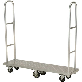 Best Value Aluminum Deck Narrow Aisle High End Narrow Aisle U-Boat Platform Truck 63 x 16 1500 Lb.