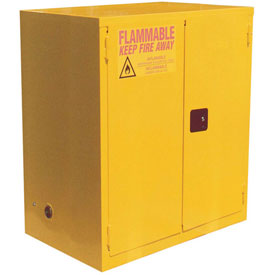 "Global&#8482 Flammable Cabinet - 120 Gallon - Manual Close Double Door - 59""W x 35""D x 65""H"