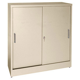 Counter Height Sandusky Sliding Door Counter Height Storage Cabinets ...