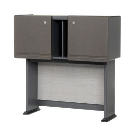 36 Inch Hutch in Slate Frame with Gray Surface  - Modular Office Furniture