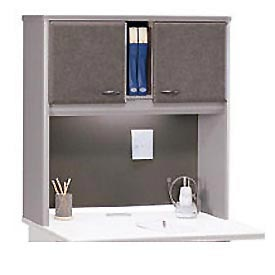 36 Inch Hutch in Pewter - Modular Office Furniture