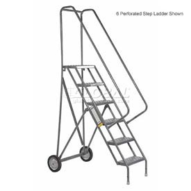 3 Step Steel Roll and Fold Rolling Ladder - Grip Strut Tread - KDRF103162
