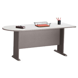 Peninsula in Pewter - Modular Office Furniture