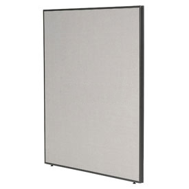 "Office Partitions - Charcoal Frame Gray Fabric - 66""H x 60""W"