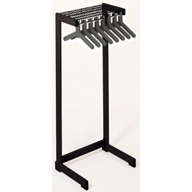 "36""W Floor Rack With 12 Hangers - Black"