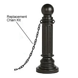 Eagle Replacement Chain Kit For Decorative Post Sleeves 6 Ft, 1719BLK