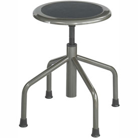 Safco Low Base Stool - Steel - Silver