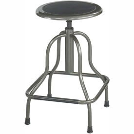 Safco High Base Stool - Steel - Silver