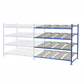 "UNEX FC99SR72484-A Flow Cell Heavy Duty Gravity Rack Add-On 72""W x 48""D x 72""H with 4 Levels"