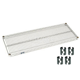 "Nexel S1848C Chrome Wire Shelf 48""W x 18""D with Clips"