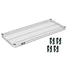 Nexel® Chrome Wire Shelf 36 x 18 with Clips