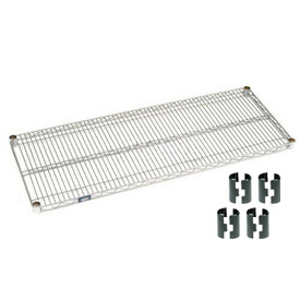 Nexel® Chrome Wire Shelf 48 x 18 with Clips