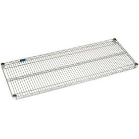 "Nexel S2148Z Poly-Z-Brite Wire Shelf 48""W x 21""D with Clips"