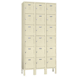 Penco 68203X073-SU Vanguard Locker Six Tier 12x15x12 18 Doors Assembled Champagne