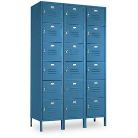 Penco 6367V3806SU Vanguard Locker Six Tier 12x15x12 18 Doors Assembled Marine Blue