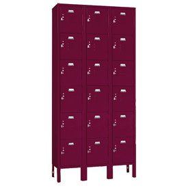 Penco 6367V-3736-SU Vanguard Locker Six Tier 12x15x12 18 Doors Assembled Burgundy