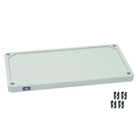 "Solid Plastic Shelf 36""Wx18""D With Clips"