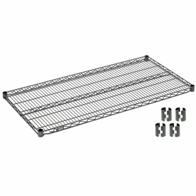 "Nexel S2460N Nexelon Wire Shelf 60""W x 24""D with Clips"