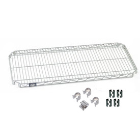 "Nexel S1436AZ Quick Adjust Wire Shelf 36""W x 14""D with Hooks and Clips"