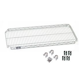 "Nexel S2460AZ Quick Adjust Wire Shelf 60""W x 24""D with Hooks and Clips"