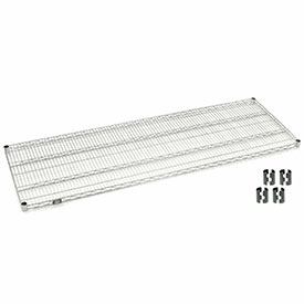 Stainless Steel Wire Shelf 60x24 With Clips