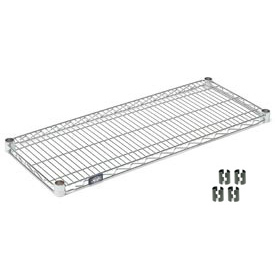 "Nexel S1442C Chrome Wire Shelf 42""W x 14""D with Clips"