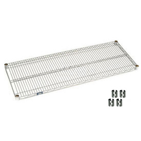 "Nexel S1854C Chrome Wire Shelf 54""W x 18""D with Clips"