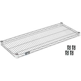"Nexel S1460C Chrome Wire Shelf 60""W x 14""D with Clips"