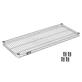 "Nexel S2136C Chrome Wire Shelf 36""W x 21""D with Clips"