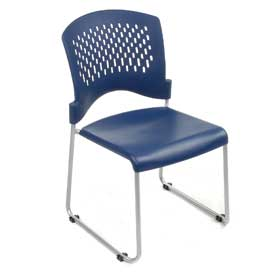 Plastic Stacking Chair - Blue - Pkg Qty 4