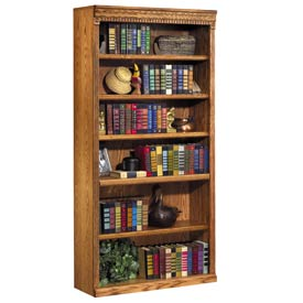 "Martin Furniture Bookcase, 72"" - Wheat - Huntington Oxford Series"
