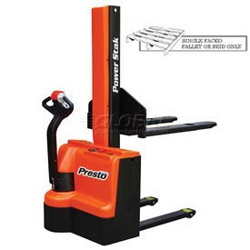 "PrestoLifts™ PowerStak™ Fully Powered Stacker PPS2200-62NFO-27 2200 Lb. 62"" Lift"