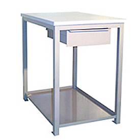 24 X 36 X 36 Drawer / Shelf Shop Stand - Maple - Blue