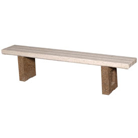 "Concrete 48"" Commercial Flat Bench"