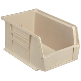 Quantum Stackable Storage Bin QUS221 6 x 9-1/4 x 5 Beige - Pkg Qty 12