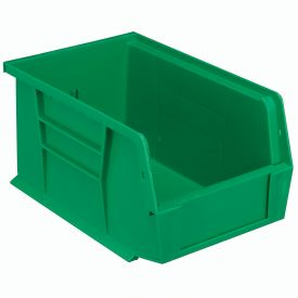 Quantum Plastic Stackable Bin QUS221 6 x 9-1/4 x 5 Green - Pkg Qty 12
