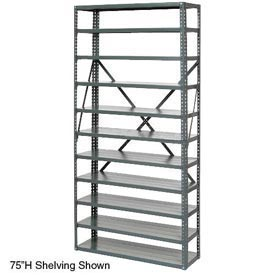 "Open Style Steel Shelf With 6 Shelves 36""Wx18""Dx39""H Ready To Assemble"