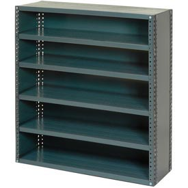 """Closed Style Steel Shelf With 6 Shelves No Bins 36""""Wx12""""Dx39""""H Ready To Assemble"""