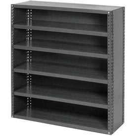 "Closed Style Steel Shelf With 6 Shelves No Bins 36""Wx18""Dx39""H Ready To Assemble"