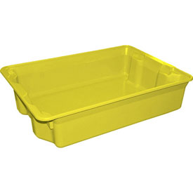 "Molded Fiberglass Nest and Stack Tote 780808 - 25-1/4"" x 18"" x 6"", Pkg Qty 6, Yellow - Pkg Qty 6"
