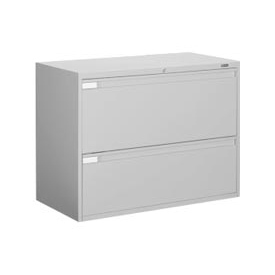 "Global™ 9300 Series 36""W 2 Drawer Binder Lateral File - Gray"