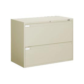 "Global™ 9300 Series 42""W 2 Drawer Binder Lateral File - Putty"