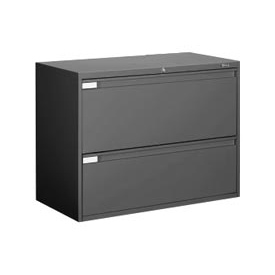 "Global™ 9300 Series 42""W 2 Drawer Binder Lateral File - Black"