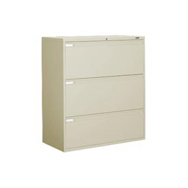 "Global™ 9300 Series 42""W 3 Drawer Binder Lateral File - Putty"
